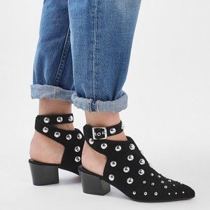 Studded Wrap Booties